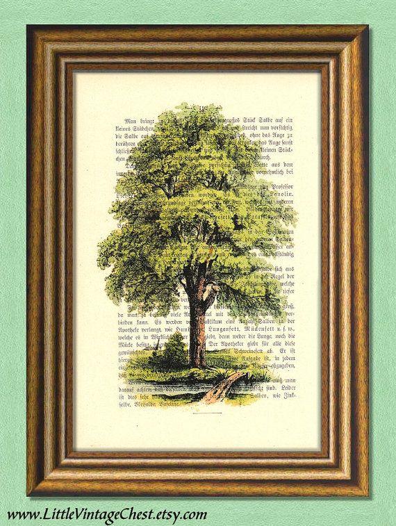 TREE TRILOGY 3  Dictionary art print  Wall by littlevintagechest, $7.99