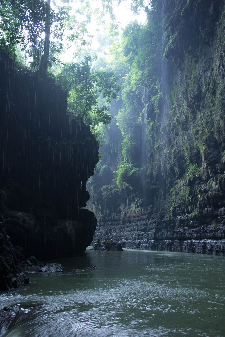 """Another beautiful place to visit in Indonesia named """"Green Canyon."""
