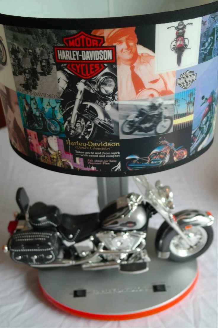 Harley Davidson Lamp with Night Light and Revving Sounds KNG Great Condition - 372 Best Motorcycles Collectibles Images On Pinterest