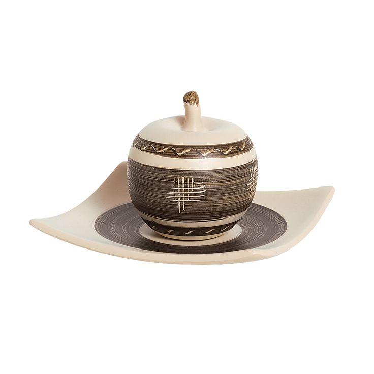 Kit Maçã em Cerâmica Decorativa. Para a decoração da sua cozinha ficar linda e completa.