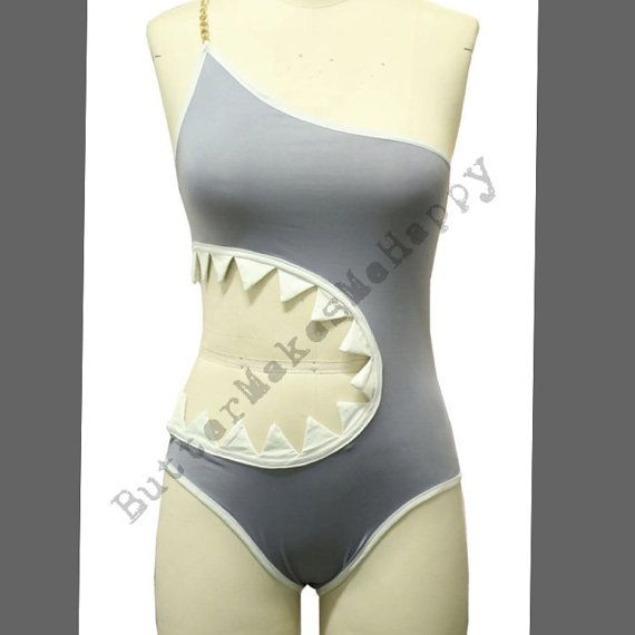 Lined Shark Bathing Suits. Original. Padded. Perfect for halloween, shark week or just hanging out by the pool! Check out all the positive