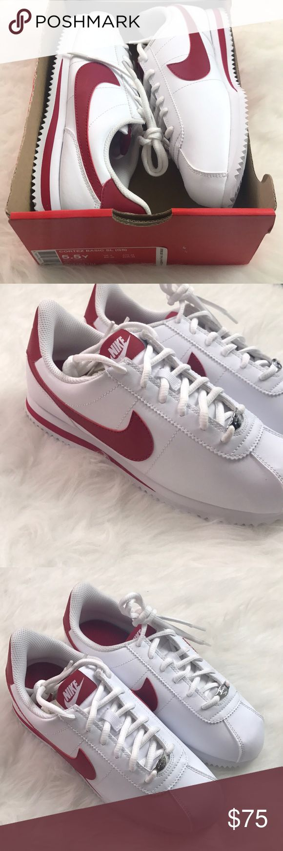 Nike Cortez Shoes NWT Red White 5.5Y Brand New Size 5.5Y Red and White Nike Shoes Nike Shoes Sneakers