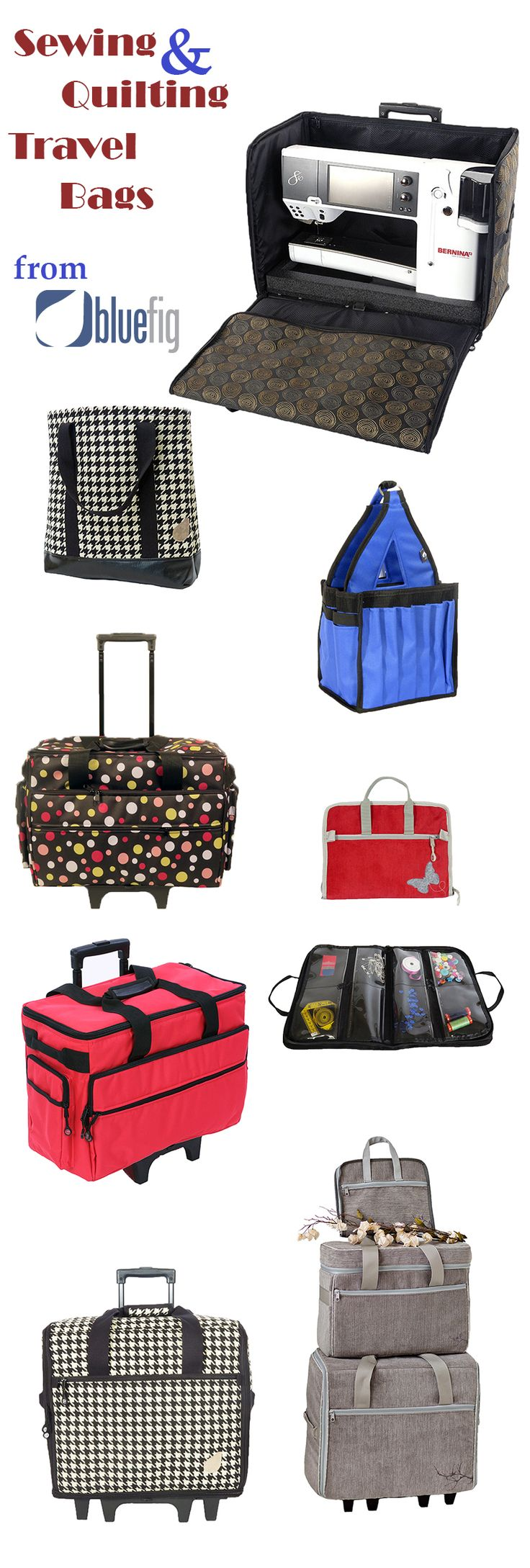 Bluefig on sale sewing machine bags embroidery arm