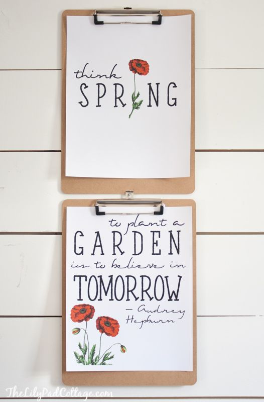 Spring quotes and Printables from The Lilypad Cottage