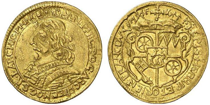 AV Ducat. Germany Coins, Mainz. Archbishopric, Johann Philipp von Schonborn 1647-1673. 1655. F 1656. Good VF. Price realized 2011: 1.000 USD.