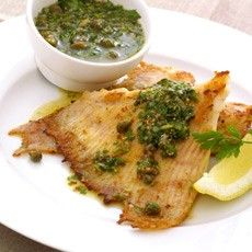 Fried Skate Wings with Warm Green Salsa Recipe