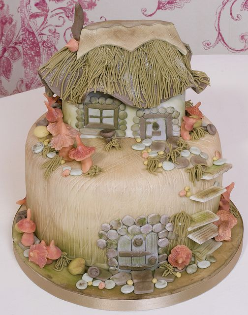 fairy house cake by simoncampbell, via Flickr