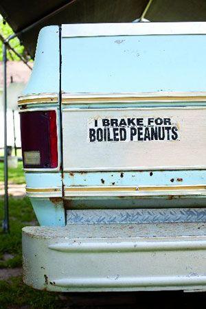 I Brake for Boiled Peanuts