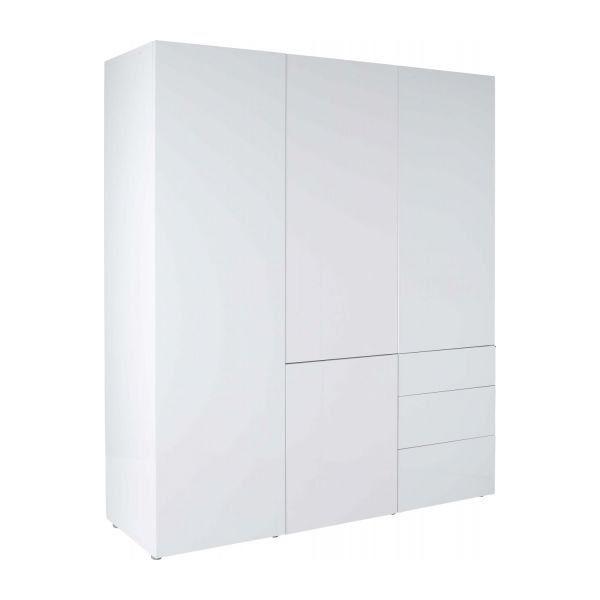 Soldes Armoire Habitat, achat Perouse Armoire 4 portes blanche laquée prix Soldes Habitat 1 573.00 € TTC au lieu de 1 963.00 €