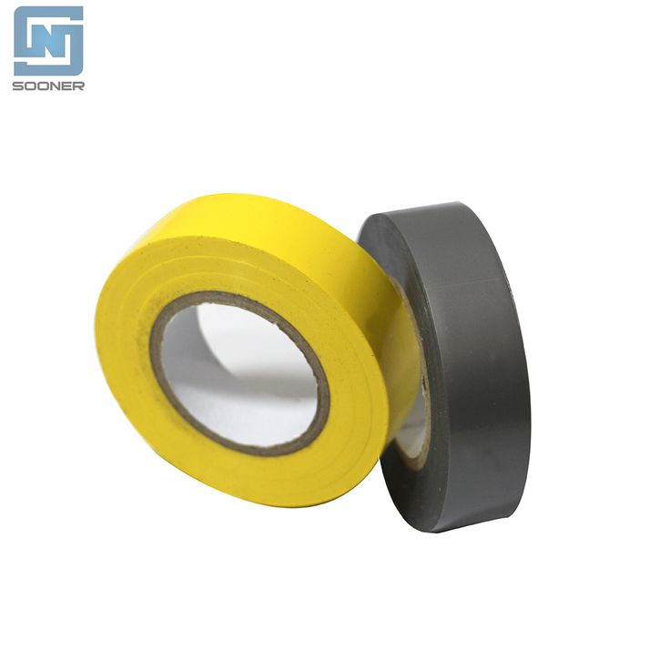 PVC Electrical Tape Teip PVC Leictreach 19MMx20M Long With Fire Retardent -Material: PVC -Adhesive: Rubber -Width: 19MM -Length: 20M -Elongation: ≥180~200 -Dielectric Strength(KV/min): ≥5~7