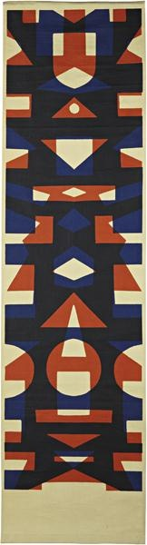 Angelo Testa; Screen-Printed Fabric Wall Hanging for Angelo Testa & Company, c1965.