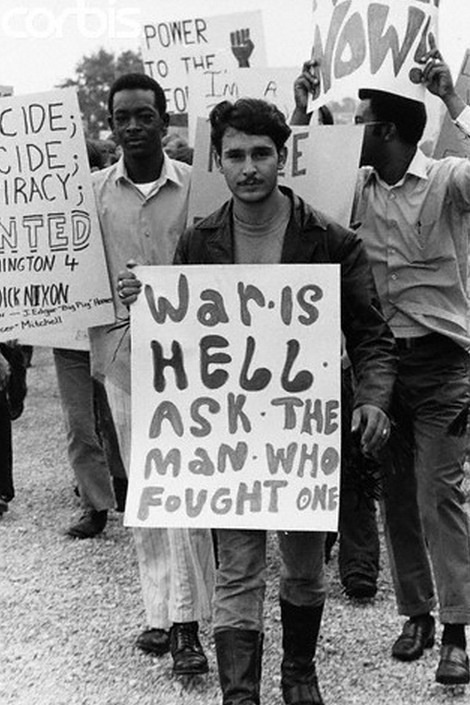 Active duty servicemen protest the Vietnam war at the military base. Killeen, Texas. May 1, 1970.