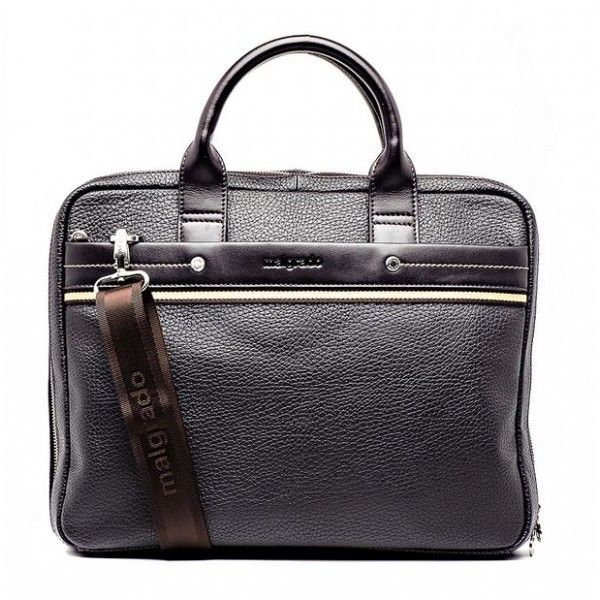 Мужской кожаный портфель Malgrado 09 321 brown 9100руб