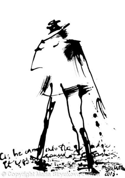 Smooth Criminal - Ink on Paper