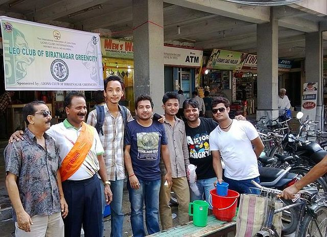 Biratnagar Greencity Leo Club (Nepal) | Leos held a Free Juices and drinking water distribution program