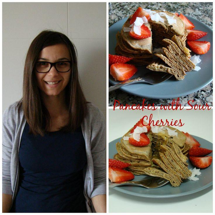 Pancakes with Sour Cherries | booksandlavender.com
