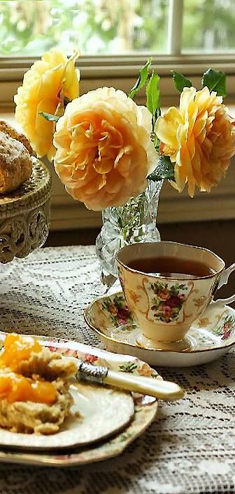 Afternoon Tea...isn't it always much more lovely in a vintage teacup and saucer from P.O.S.H.? http://poshchicago.com/