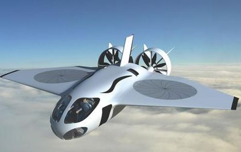 """XV-58 Manta"" design by students at the GA Tech - Vertical Takeoff Plane Design Flies Three Times Faster Than Helicopters"