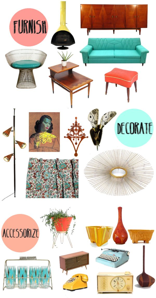 25+ Best Ideas About 60S Home Decor On Pinterest | Vintage