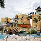 Sunset Beach and Resort, Jamaica Inexpensive all-inclusive Elaborate Waterpark (Pirate Ship, Castle Decor, Lazy River) . . . all pools are 4 ft deep or less Nice beaches Strange mix of being kid-friendly and catering to adults (nude beach, drinking contests . . . )