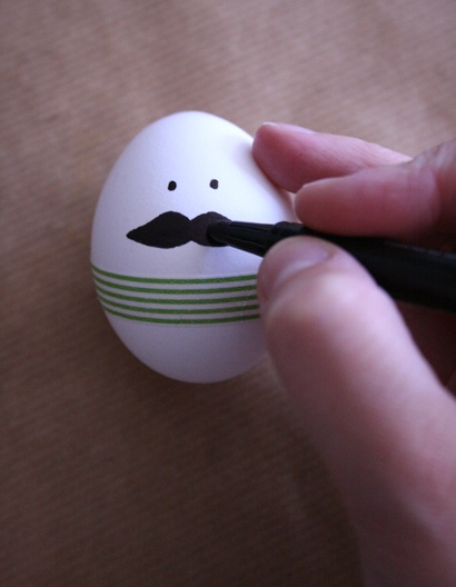 Decorating Easter eggs #painting #moustache