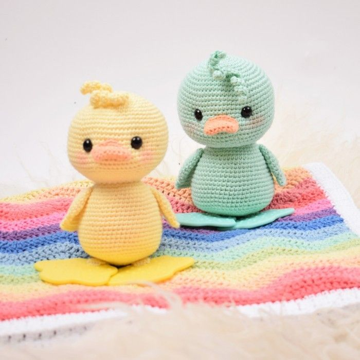 Teething Duck Alfred Easter crochet patterns, Easter