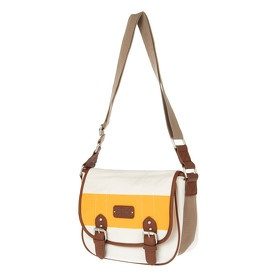 Saccoche blanche, marron et jaune - Aéropostale @ my-store.ch