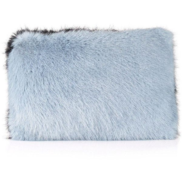 Whistles Faux Fur Clutch (£30) ❤ liked on Polyvore featuring bags, handbags, clutches, accessories, faux fur purse, blue purse, blue clutches, blue handbags and faux-fur handbags
