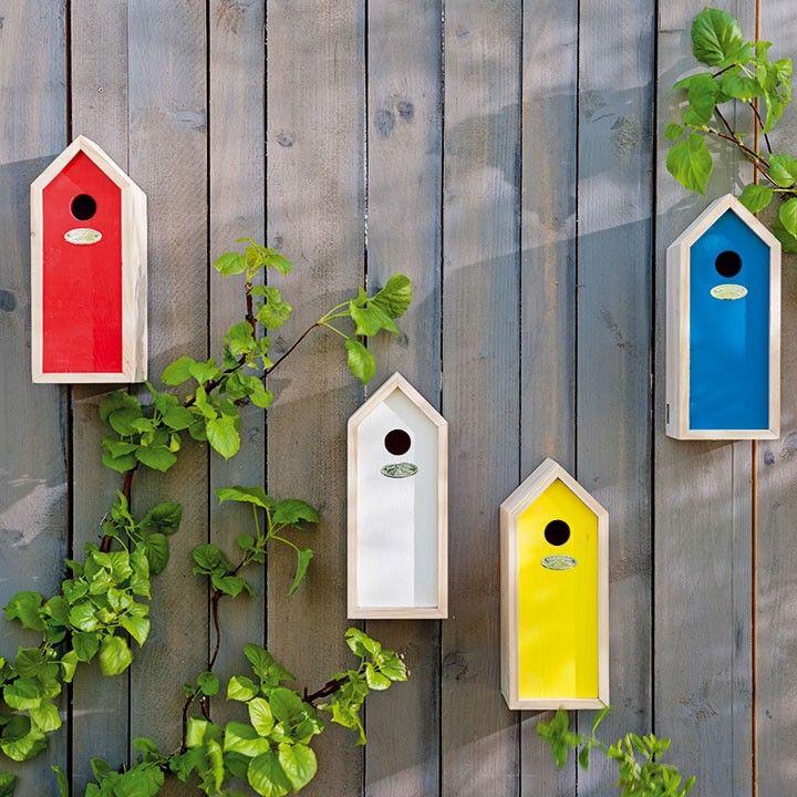 Leuke, vrolijke vogelhuisjes voor aan je schutting #vogelhuisjes #schutting #vogels #vogelvriendelijk #tuin #balkon #intratuin