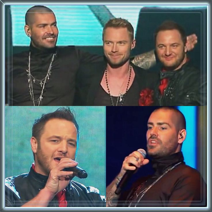 Shane Lynch, Ronan Keating and Mikey Graham on XFactor Australia in 2010 for Stephen Gately's 1st Anniversary (Keith Duffy was unable to join them)