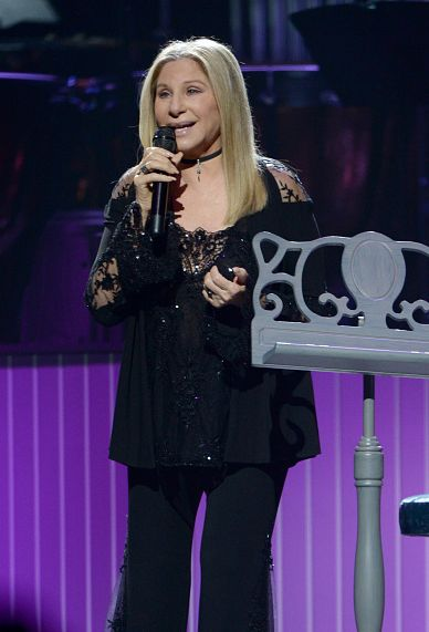 Barbra Streisand performs onstage during the Barbra - The Music... The Mem'ries...The Magic! Tour at American Airlines Arena on December 5, 2016 in Miami, Florida.