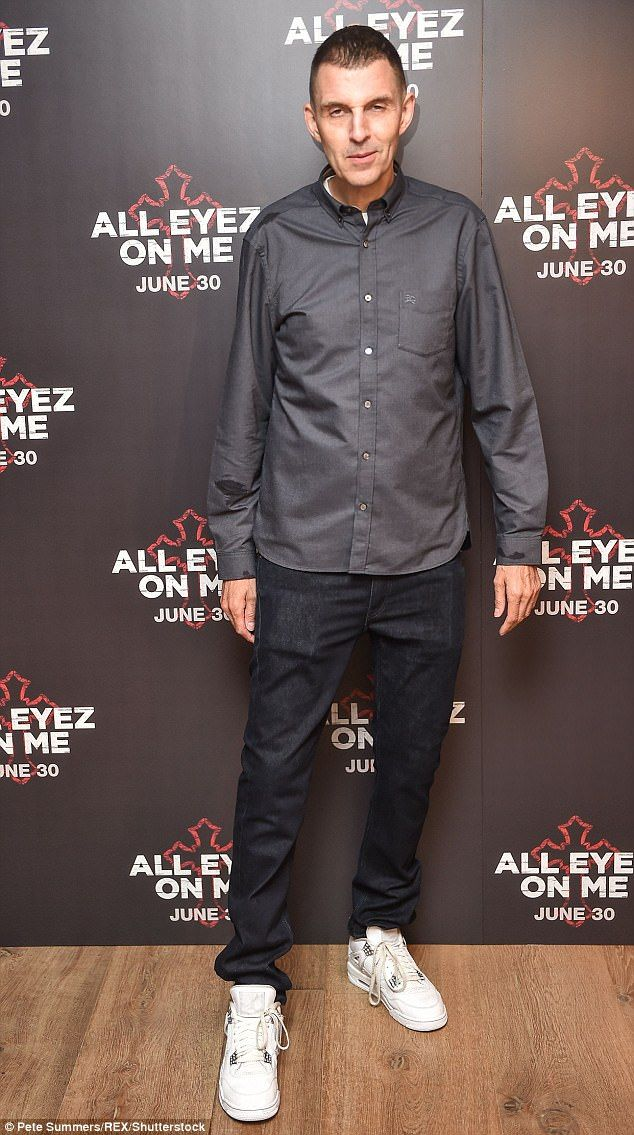 Keeping up appearances:Tim Westwood cut a dapper figure in a grey shirt, which he gave a ...