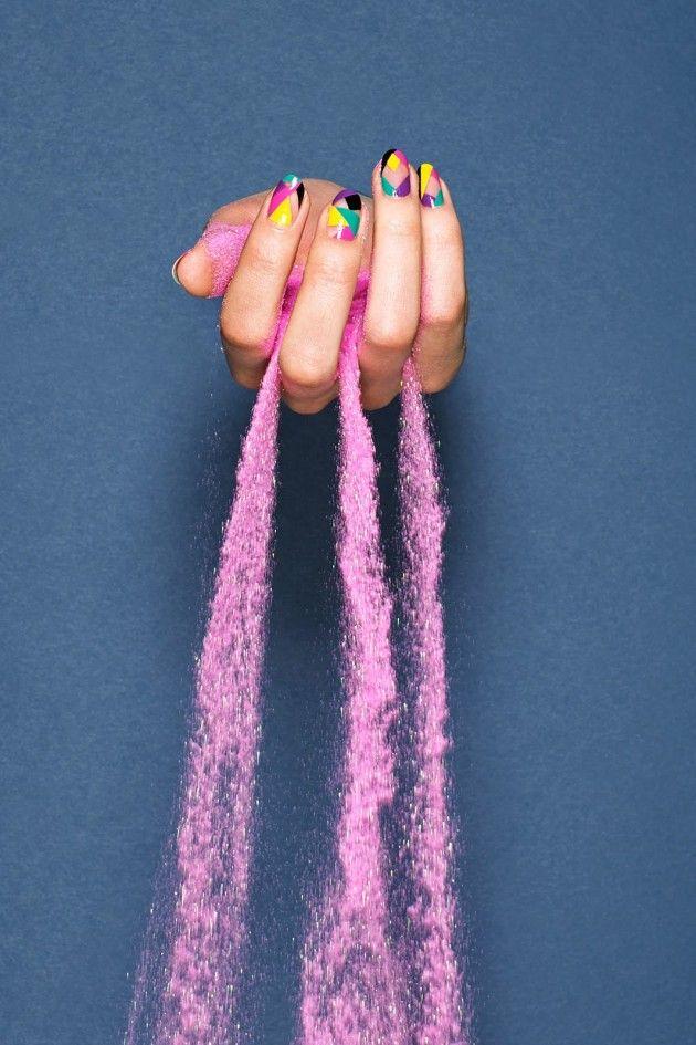 Divertidos Diseños de Uñas multicolores para el Verano - Manicure