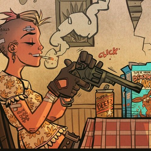 21st Century Tank Girl #3 out tomorrow!! #tankgirl #21stcenturytankgirl#superbeer