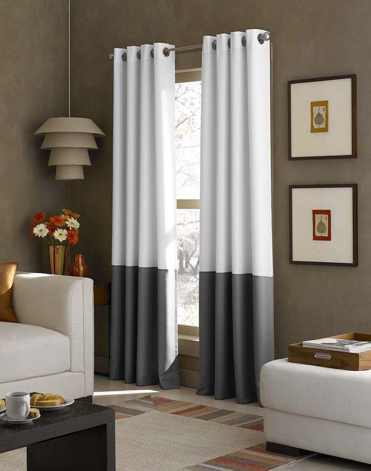 Cheap curtain site Kendall Color Block Grommet Curtain Panel / Curtainworks.com