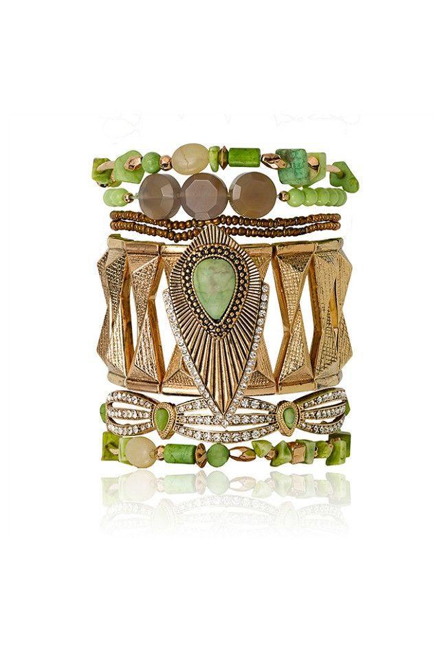 Samantha Wills Mystery Seeker Bracelet Set - Mint AUD$160.00 available at www.carouselbondi...