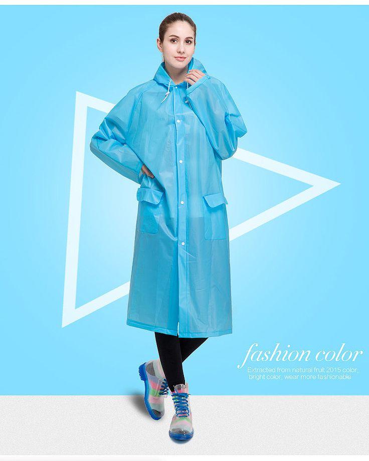 Good Quality EVA Candy Color Fashion Girls Women Man Waterproof Raincoat Bicycle Rain Jacket Rain Coat Rainwear Poncho Rain Gear