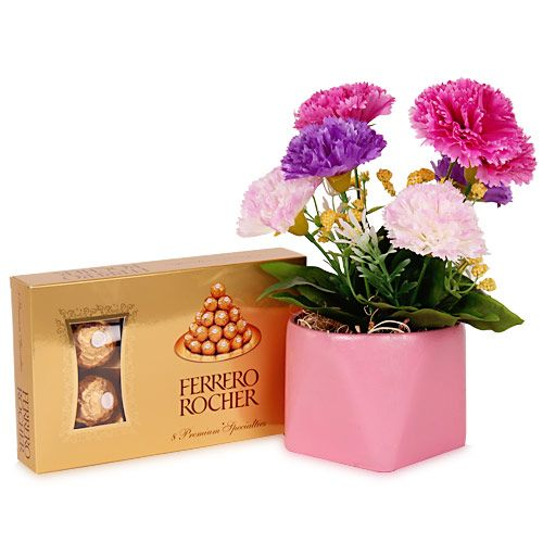 Flower and chocolate combo