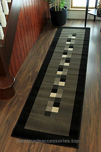 "Milan Soft Modern Black & Grey Border Rug 777-H51 – 2′ x 7'10"" Check It Out Now     $45.95    Made from 100% Polypropylene these Rug are stain resistant, easy to clean and will add a contemporary twist to any ro ..  http://www.handmadeaccessories.top/2017/03/21/milan-soft-modern-black-grey-border-rug-777-h51-2-x-710/"