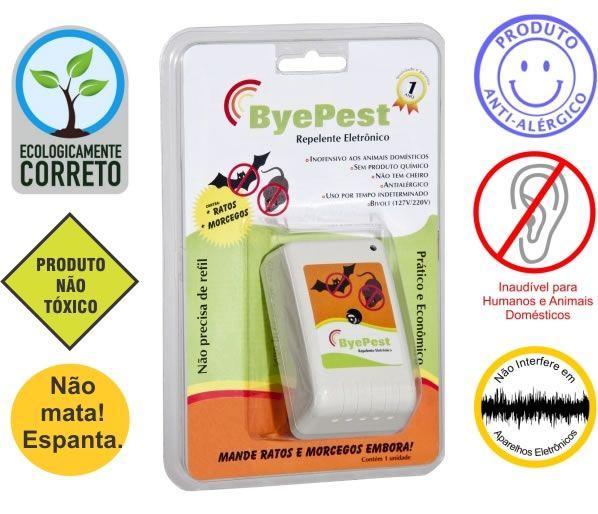 Repelentes Eletrônicos : repelente de ratos e morcegos-Byepest - Guia Vegano