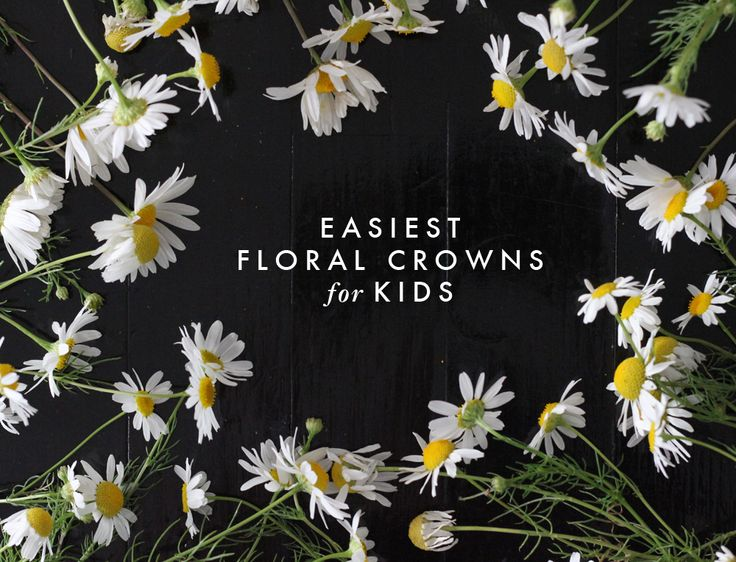 simple floral crown for kids to make
