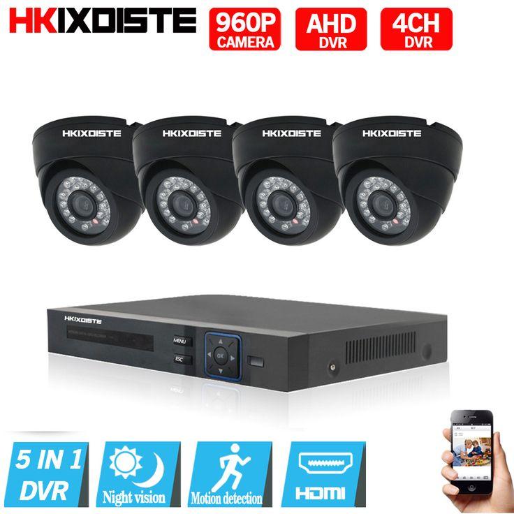 960P ahd camera 1080P DVR CCTV System 1.3 MP Day Night IR 4 Cameras High Definition Video Surveillance 4CH AHD DVR CCTV System  #Affiliate