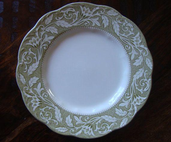 J u0026 G Meakin England10 inch Plate Set of 5 Renaissance Pattern Green Sage Olive TYCAALAK & 16 best Laurenu0027s Dishes - J u0026 G Meakin Renassiance images on ...