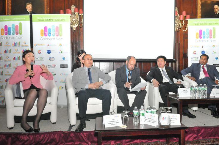 Chinese delegation and panel @investingcarib 2014.
