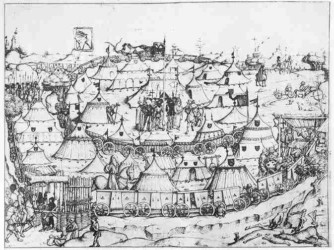 A medieval encampment