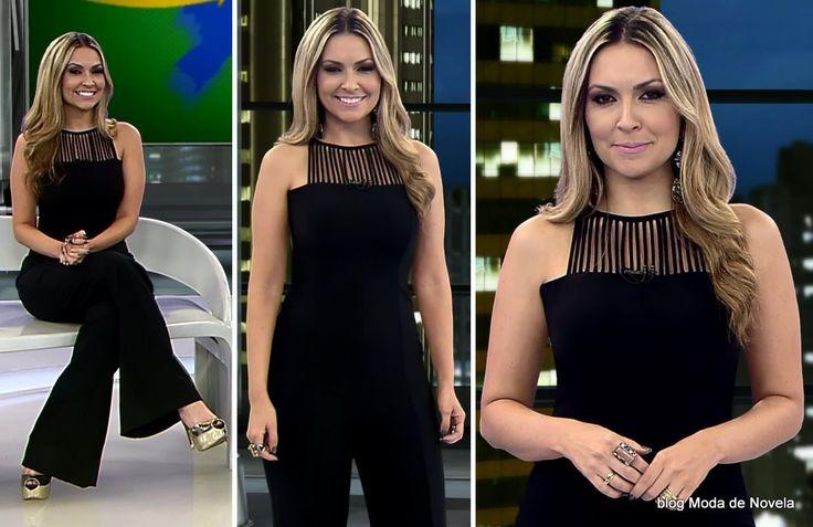 Looks de Janine Borba e Thalita Oliveira no Domingo Espetacular dia 31 de agosto