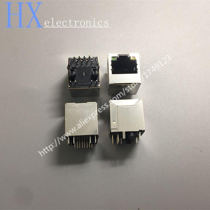 Hot sale 10PCS/LOT RJ45 female socket vertical illuminated RJ45 network socket 5224-8P8C LIGHT #Affiliate