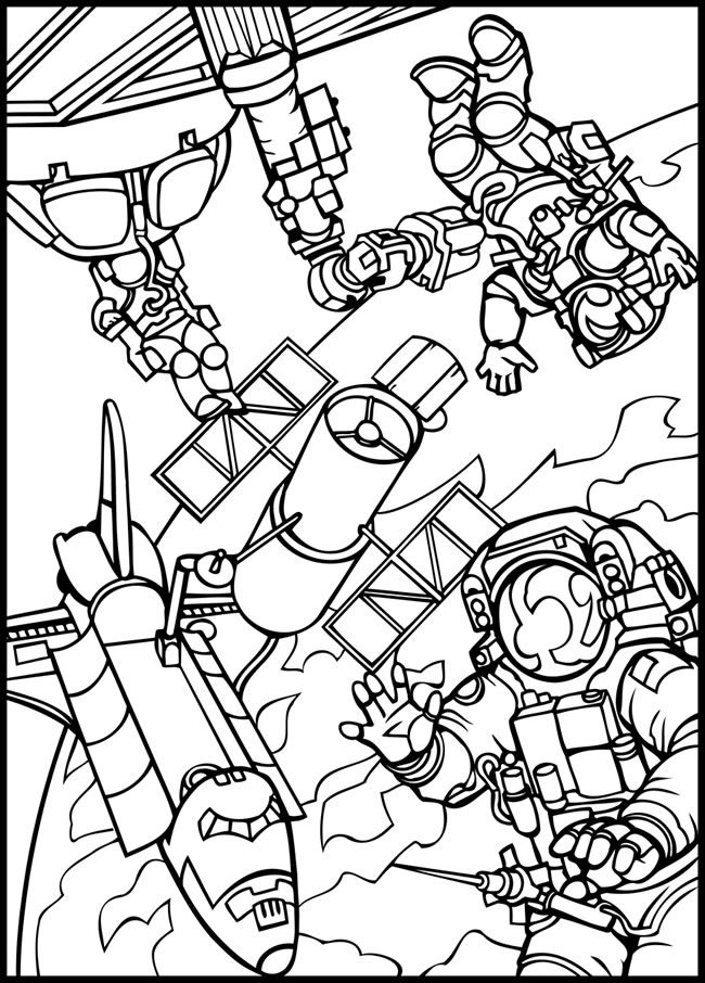 Outer space coloring page. Space Pinterest