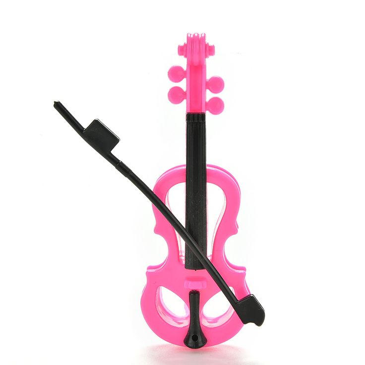 Lovely Kid's Play House Plastic Toy Violin For Barbie Dolls Dreamhouse - Musical Instrument Toys