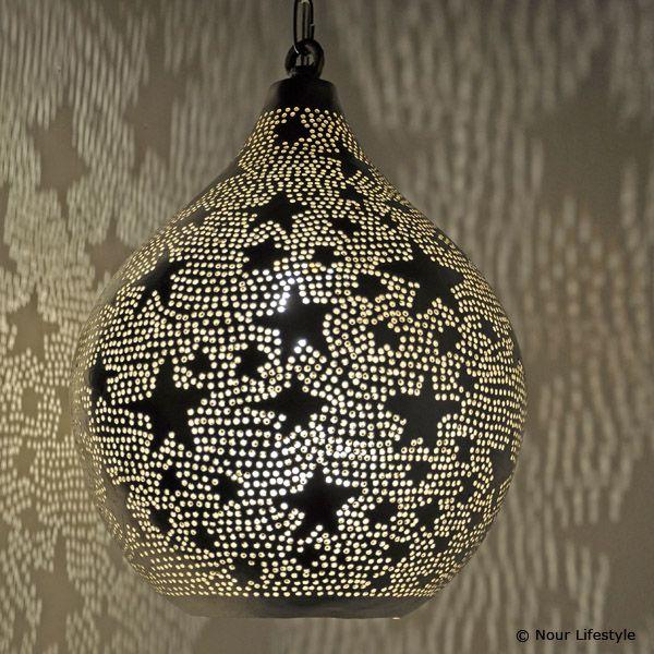 Kinderlampen, hanglamp met sterren met open onderkant - Nour Lifestyle